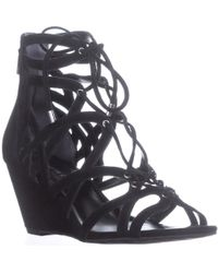 Kenneth Cole - New York Dylan Wedge Strappy Sandals - Lyst