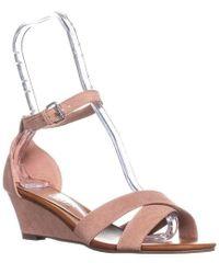 Callisto - Strobe Wedge Sandals - Lyst