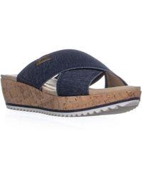 Anne Klein - Ak Sport Felisha Platform Slip On Sandals - Lyst