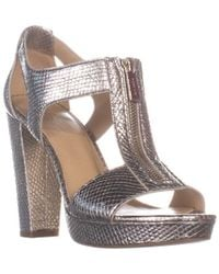 Michael Kors - Michael Berkley Zipper Front Heeled Sandals - Lyst