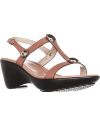 Callisto - Toggle Low-heel Comfort Sandals - Lyst
