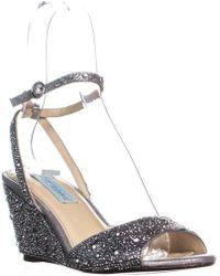 Betsey Johnson - Blue Elora Wedge Sandals - Lyst