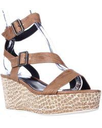 Tahari - Elie Mustique Strappy Platform Sandals - Lyst