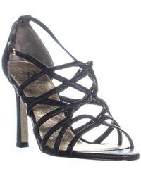 Adrianna Papell - Elda Strappy Dress Sandals, Black - Lyst