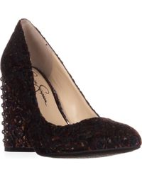 Jessica Simpson - Bainer Velvet Stud Detail Court Shoes - Lyst
