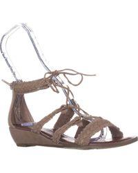 Carlos By Carlos Santana - Kenzie Flat Lace-up Sandals - Lyst