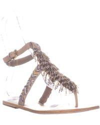 1d49b0504474 Sam Edelman - Alara T-strap Flat Sandals - Lyst