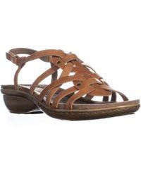 Easy Spirit - Vitaro Front Strappy Wedge Sandals - Lyst