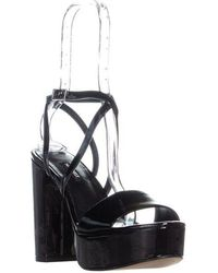 64b5f810915a Nine West - Markando Block Heel Platform Strappy Sandals - Lyst