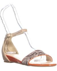 Chinese Laundry - Cl By Serafina Flat Ankle Strap Sandals - Lyst