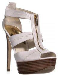 Michael Kors - Michael Berkley T-strap Platform Sandals - Lyst