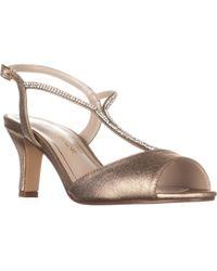Caparros - Delicia Sparkle T-strap Peep Toe Dress Sandals - Lyst