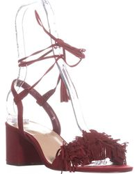 Callisto - Melz Lace-up Fringe Sandals - Lyst