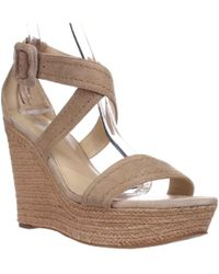 9a5778a8d43 Marc Fisher - Haely Espadrille Wedge Sandals - Lyst