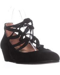 French Sole - Twosome Ankle Strap Wedges - Lyst