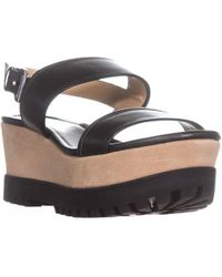 Michael Kors - Michael Gillian Mid Wedge Platform Sandals - Lyst