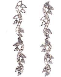 Fallon - Vine Drop Earrings - Lyst