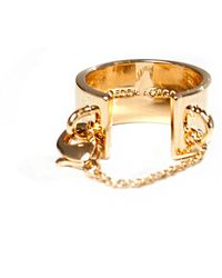 Eddie Borgo - Safety Chain Ring - Lyst