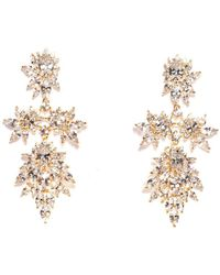 Fallon - Cluster Marquis Statement Earring - Lyst