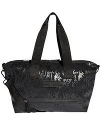 Adidas By Stella Mccartney Zebra Striped Nylon Gym Bag in Black - Lyst d4a716c5f148b