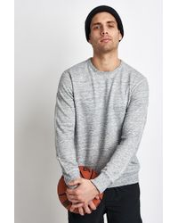 Reigning Champ - Side Zip Crewneck Sweatshirt Ice - Lyst