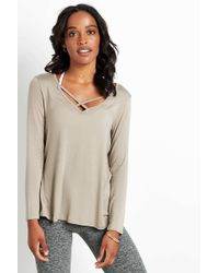 Beyond Yoga - Cross Me Once Pullover | Timber - Lyst