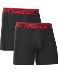 "Under Armour - Ua Original Series 6"" Boxerjock 2 Pack- Black - Lyst"