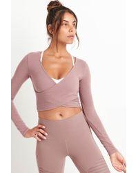 Alo Yoga - Amelia Luxe Long Sleeve Crop - Lyst