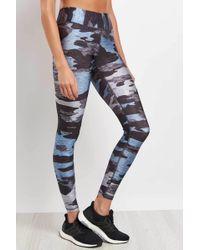 Terez - Blueish Heathered Camo Legging - Lyst