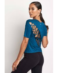 Alo Yoga | Entwine Short Sleeve Top | Lyst