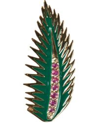 Alison Lou - Palm Leaf Earring - Lyst