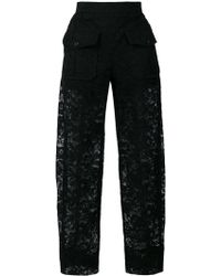 Chloé - Sheer Lace Trousers - Lyst