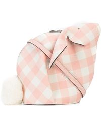 Loewe - Mini Gingham Bunny Bag - Lyst
