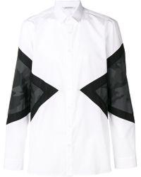 Neil Barrett - Color Blocked Classic Shirt - Lyst