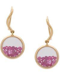 Aurelie Bidermann - 18kt Gold Chivor Ruby Earrings - Lyst