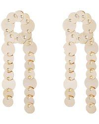 Eddie Borgo | Crisscross Pinned Paillette Earrings | Lyst