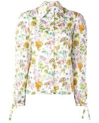 Olympia Le-Tan - Mushroom Print Shirt - Lyst