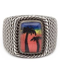 Saint Laurent - Eighties Hawaii Signet Ring - Lyst