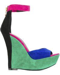 Balmain - Multicolor High Sandals - Lyst