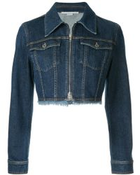 Stella McCartney - Cropped Denim Jacket - Lyst
