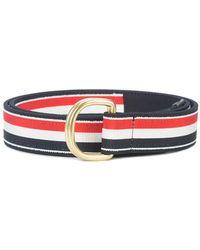 Thom Browne - Signature Stripe Belt - Lyst