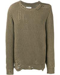 Faith Connexion - Destroyed Cotton-blend Sweater - Lyst
