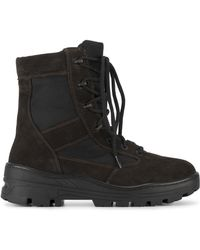 Yeezy - Lace Up Combat Boots - Lyst