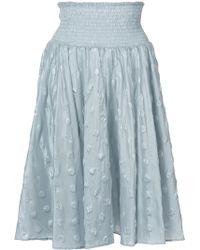 Julien David - Woven Spotted Skirt - Lyst