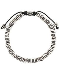 M. Cohen - Stacked Carved Oxidized Disc Bracelet - Lyst