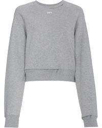 Off-White c/o Virgil Abloh - Cropped Cutout Sweatshirt - Lyst