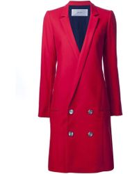 Julien David | Low Double-breasted Buttons Coat | Lyst