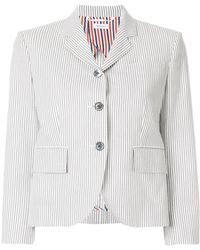 Thom Browne - Striped Short Blazer - Lyst