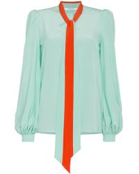 Givenchy - Pussybow Blouse - Lyst
