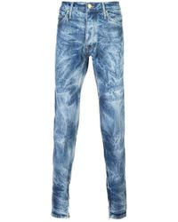 Fear Of God - Indigo Bleached Effect Slim-fit Jeans - Lyst